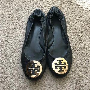 Tory Burch Black Ballet Flats Women 6.5